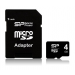 Silicon Power Card MICRO SDHC Silicon Power 4GB 1 Adapter CL4