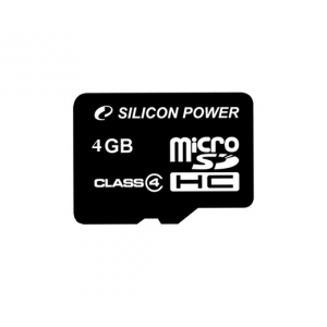 Silicon Power Card MICRO SDHC Silicon Power 4GB Adapter nélkül CL4
