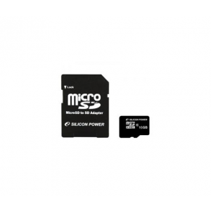 Silicon Power Card MICRO SDHC Silicon Power 16GB 1 Adapter CL10