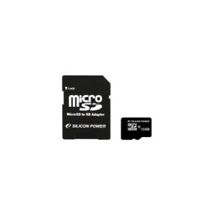 Silicon Power Card MICRO SDHC Silicon Power 16GB 1 Adapter CL10