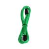 Bitfenix 6-Pin PCIe hosszabbító 45cm - sleeved zöld/fekete