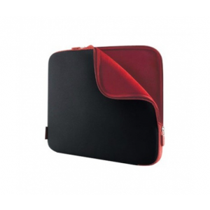 "Belkin Case SLEEVE NEOPRENE 15.6"" COAL BLACK/WHINE RED"