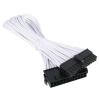 Bitfenix 24-Pin ATX hosszabbító 30cm - sleeved fehér/fekete