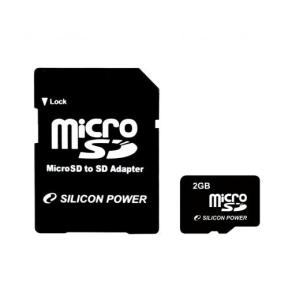 Silicon Power Card MICRO SD Silicon Power 2GB 1 Adapter