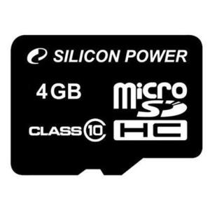 Silicon Power Card MICRO SDHC Silicon Power 4GB Adapter nélkül CL10