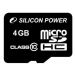 Silicon Power Card MICRO SDHC Silicon Power 4GB Adapter nélkül CL10