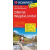 Zillertal - Wipptal - Inntal kerékpártérkép - Kompass FK 3308
