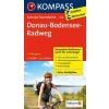 Donau-Bodensee-Radweg kerékpártúra térkép - Kompass FTK 7018