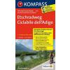 Etschradweg kerékpártúra térkép - Kompass FTK 7041