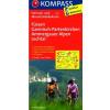 Füssen - Garmisch-Partenkirchen - Ammergauer Alpen - Lechta kerékpártérkép - Kompassl FK 3127
