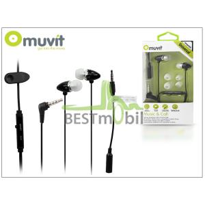 Muvit univerzális sztereó felvevős fülhallgató - 3,5 mm jack - Muvit Music and Call - black