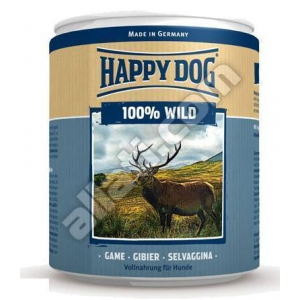 Happy Dog NaturCroq Happy Dog kutyakonzerv csak vadhúsból 800g