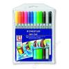 STAEDTLER Filctoll készlet, 1-3 mm, kétvégű, kimosható, STAEDTLER Noris Club, 12 különböző szín (TS320NWP12)