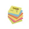 3M POSTIT Öntapadó jegyzettömb, 76x76 mm, 100 lap, 3M POSTIT, energikus színek