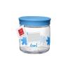 Bormioli Rocco 04265 Üveg tetővel kék palack, üveg