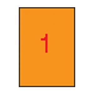 APLI APLI 210x297mm színes neon narancs 20db/cs | Színes etikettek