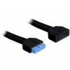DELOCK Cable USB 3.0 pin header hosszabbító male / female (82943)