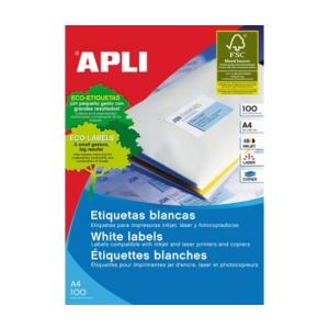 APLI APLI uni. 63,5x38,1mm kerekített 2100db/cs | Kerekített sarkú etikettek