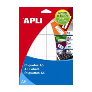 APLI APLI 105x148mm A5 hordozón 30db/cs | Általános etikettek