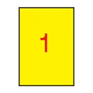 APLI APLI 210x297mm színes sárga 100db/cs   Színes etikettek