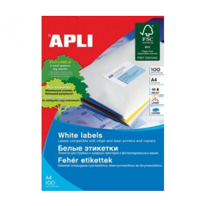 APLI APLI uni. 210x420mm A3 100db/cs | Általános etikettek