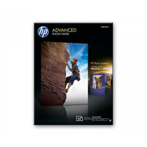 HP PAPÍR HP ADVANCED GLOSSY 25lap 13X18CM 250G/QM (Q8696A)