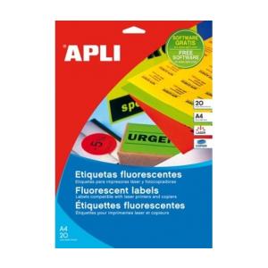 APLI APLI 60mm kör színes neon sárga 240db/cs | Színes etikettek