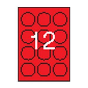 APLI APLI 60mm kör színes neon piros 240db/cs | Színes etikettek
