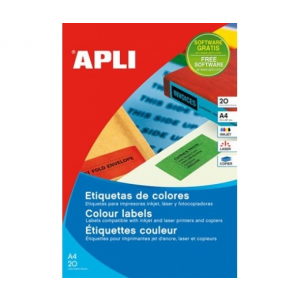 APLI APLI 70x37mm színes kék 480db/cs | Színes etikettek
