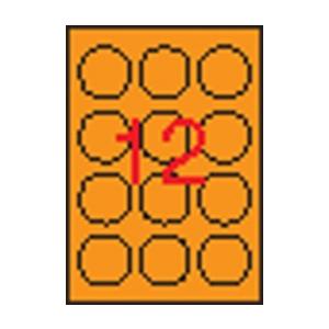 APLI APLI 60mm kör színes neon narancs 240db/cs | Színes etikettek