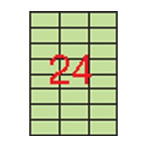 APLI APLI 70x37mm színes pasztell zöld 480db/cs | Színes etikettek
