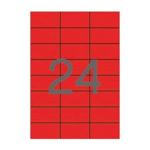APLI APLI 70x37mm színes piros 2400db/cs | Színes etikettek