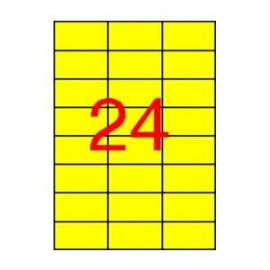 APLI APLI 70x37mm színes sárga 2400db/cs | Színes etikettek