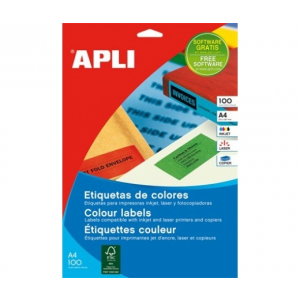 APLI APLI 70x37mm színes kék 2400db/cs | Színes etikettek