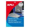 APLI APLI 45,7x21,2mm vízálló kerekített ezüst 960db/cs | Poliészter etikettek etikett