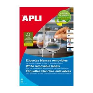 APLI APLI uni. 25,4x10mm kerekített 4725db/cs | Eltávolítható etikettek