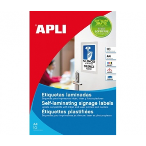 APLI APLI 150x100mm hideglaminálható 20db/cs | Poliészter etikettek