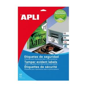 APLI APLI 40mm kör kerekített 240db/cs   Biztonsági etikettek