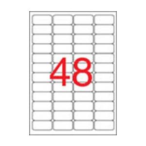 APLI APLI 45,7x21,2mm kerekített 480db/cs | Biztonsági etikettek
