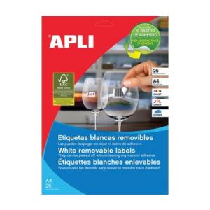 APLI APLI uni. 36,8x23,8mm kerekített 5500db/cs | Eltávolítható etikettek