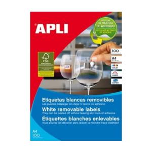 APLI APLI uni. 64,6x33,8mm kerekített 2400db/cs   Eltávolítható etikettek