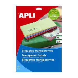 APLI APLI 99,1x38,1mm kerekített átlátszó 140db/cs | Poliészter etikettek