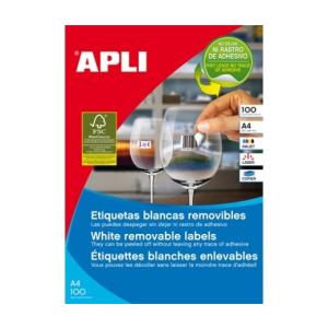 APLI APLI uni. 52,5x21,2mm 5600db/cs | Eltávolítható etikettek
