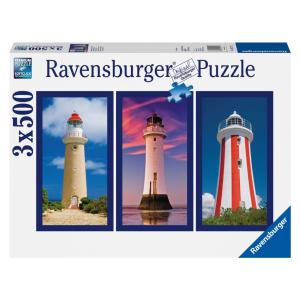 Ravensburger Ravensburger 3 x 500 db-os puzzle - Impozáns világítótornyok (16277)