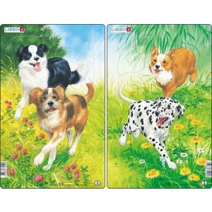 Larsen Larsen midi puzzle 10 db-os Kutyák H19