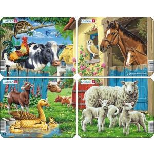 Larsen Larsen mini puzzle 7 db-os Állatok a tanyán M5