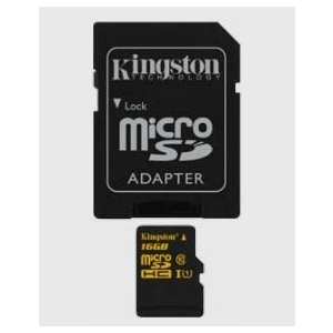 Kingston Micro SDHC 16GB CL10 UHS-1 (read/write 90/45MB/s)