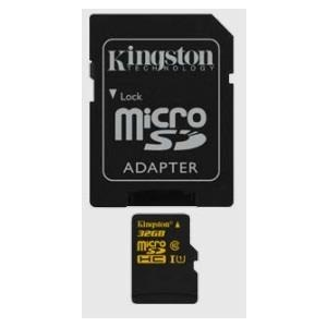 Kingston Micro SDHC 32GB CL10 UHS-1 (read/write 90/45MB/s)