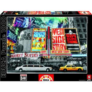 Educa Educa 1000 db-os Black & White puzzle - Színház-jelek - New York (15547)