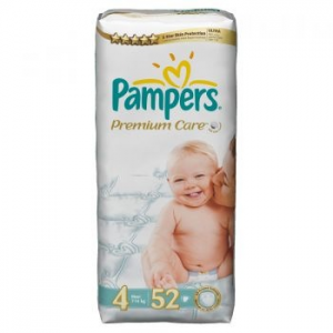 Pampers Premium Care 4 Maxi Value Pack pelenka, 52 db (4015400278818)